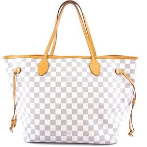 Neverfull Damier Azur Canvas Shoulder Bag